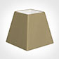 30cm Sloped Square Shade in Oyster Faux Silk