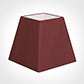 30cm Sloped Square Shade in Antique Red Silk