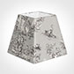 30cm Sloped Square Shade in Grey Pastoral Toile de Jouy-Lamp Base Only