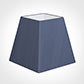 40cm Sloped Square Shade in Blue Faux Silk