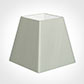 40cm Sloped Square Shade in Soft Grey Faux Silk