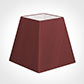 40cm Sloped Square Shade in Antique Red Silk