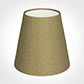 Tapered Candle Shade in Dull Gold Faux Silk