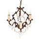 Rococo Pendant Light in Antiqued Brass