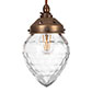 Orfila Crystal Pendant Light in Antiqued Brass