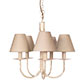 Five Arm Classic Pendant Light in Old Ivory