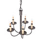 Five Arm Classic Pendant Light in Polished