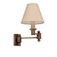 Hanson Wall Light in Antiqued Brass