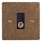 TV Co-axial Ant Brass Hammered Plate Black Insert