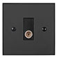 TV Co-axial Outlet BW Bevelled Plate, Black Insert