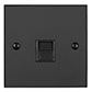 Secondary Telephone Socket Beeswax Bevelled Plate, Black Insert