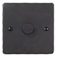 1 Gang Rotary Dimmer Beeswax Hammered Plate