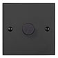 1 Gang Rotary Dimmer Beeswax Bevelled Plate