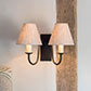 Double Gosford Wall Light in Beeswax