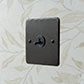 1 Gang Black Dolly Switch Beeswax Hammered Plate