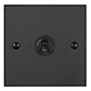 1 Gang Black Dolly Switch Beeswax Bevelled Plate