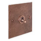 1 Gang Copper Dolly Switch Heritage Copper Bevelled Plate