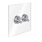 2 Gang Chrome Dolly Switch Clear Backplate