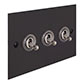 3 Gang Steel Dolly Switch Beeswax Bevelled Plate