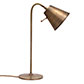 Studio Desk Lamp with Spun Shade in Antiqued Brass