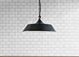 Balmoral Pendant Light in Slate Grey (inside white)