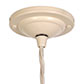 Ava Glass Pendant Light in Plain Ivory