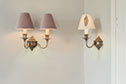 Double Brancaster Wall Light in Antiqued Brass