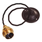 Beeswax Rose with 50cm Black Braided Cable (ES)