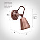 Single Curtis Spot Light in Heritage Copper