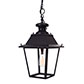 Standard Canterbury Lantern in Matt Black