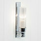Raydon Wall Light in Nickel Plate (Fluted Glass)