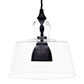 Lovell Glass Pendant Light in Matt Black