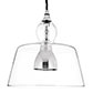 Lovell Glass Pendant Light in Nickel Plated