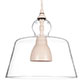 Lovell Glass Pendant Light in Plain Ivory