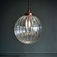 Fulbourn Glass Pendant Light in Heritage Copper
