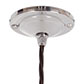 Fulbourn Glass Pendant Light in Nickel