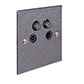 4 Way Satellite Socket Polished Bevelled Plate (Sat/TV/Return/Radio)