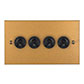4 Gang Black Dolly Switch Old Gold Bevelled(discontinued, only stock shown available)