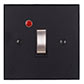 Double Pole Isolator (Neon) Matt Black Bevelled(discontinued, only stock shown available)