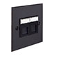 Combined BT Master/RJ45 Socket Beeswax Bevelled Plate, Black Insert