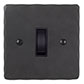 1 Gang Black Grid Switch Beeswax Hammered Plate