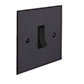 1 Gang Black Grid Switch Beeswax Bevelled Plate