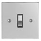 1 Gang Chrome Grid Switch Nickel Bevelled Plate