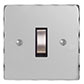1 Gang Steel Grid Switch Nickel Hammered Plate (discontinued, only stock shown available)
