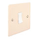 1 Gang White Grid Switch Plain Ivory Hammered Plate