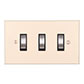 3 Gang Steel Grid Switch Plain Ivory Bevelled(discontinued, only stock shown available)