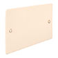 Double Blank Hammered Plate in Plain Ivory