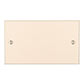 Double Blank Bevelled Plate in Plain Ivory