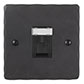 1 Gang Black RJ45 Socket Beeswax Hammered Plate