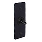 1 Gang Black Dolly Architrave Switch Matt Black Hammered Plate